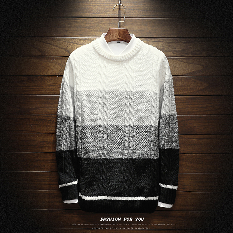 Autumn winter Fashion Brand Casual Sweater O-Neck Striped Slim Fit Knitting Mens Sweaters And Pullovers Men Pullover Men M-5XL