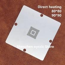 Directe verwarming 80*80 90*90 MN2WS0250E MN2WS0250G MN2WS0250Z MN2WS0250B 2WS0250 BGA Stencil Template