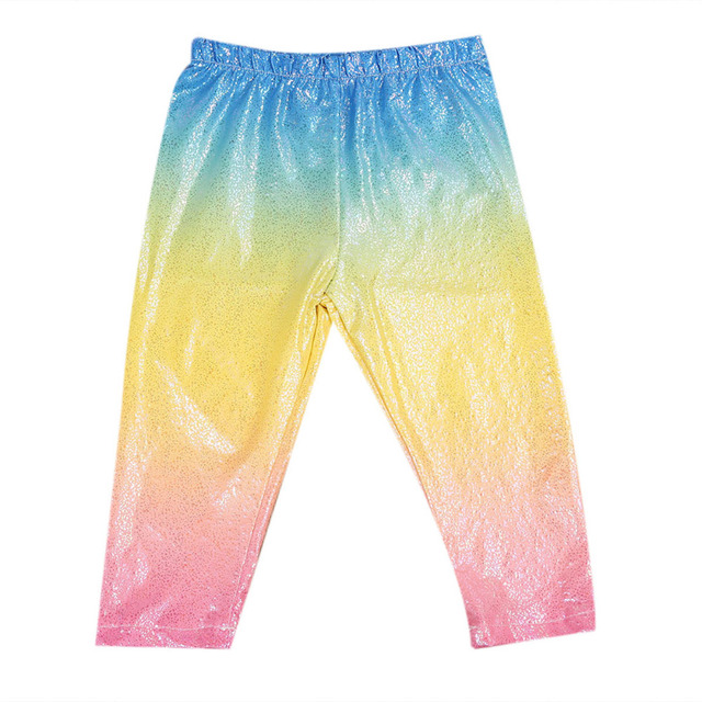 Dropshipping 2017 NEW Baby Girl Shiny Sequins Leggings Trousers Skinny Princess Casual Colorful Bottoms 1-6Y