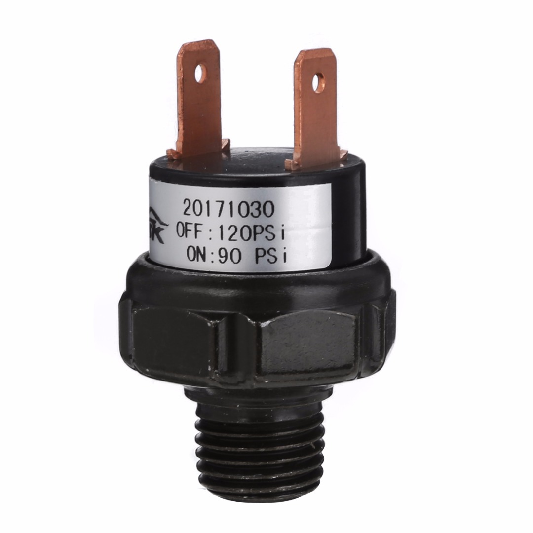 """Mayitr 1/4"""" NPT End Air Compressor Pressure Switch 90-120 PSI 12V Air Compressor Control Switch Valve Heavy Duty Home Tools"""