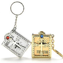 English Mini HOLY Bible Keychain Religious Christian Jesus Cross Key Chain Women Prayer God Bless Gift Souvenirs Keyring