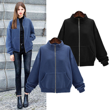 YICIYA navy blue black women jacket plus size 4xl coats oversized outerwear large clothes cashmere winter warm 2019 spring coat