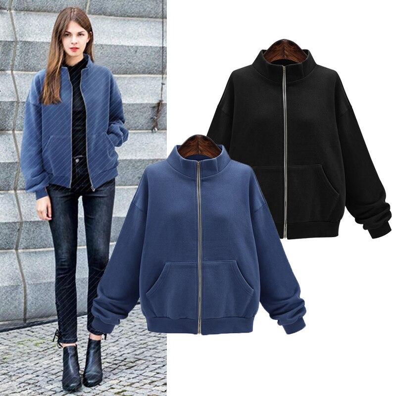 YICIYA navy blue black women jacket plus size 4xl coats oversized outerwear large clothes cashmere winter warm 2019 spring coat