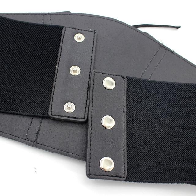 whole colored Belt Corset Lace up Wide Belts for Women Black Cummerbund for Evening Dress Fashion Clothes Accessory 3