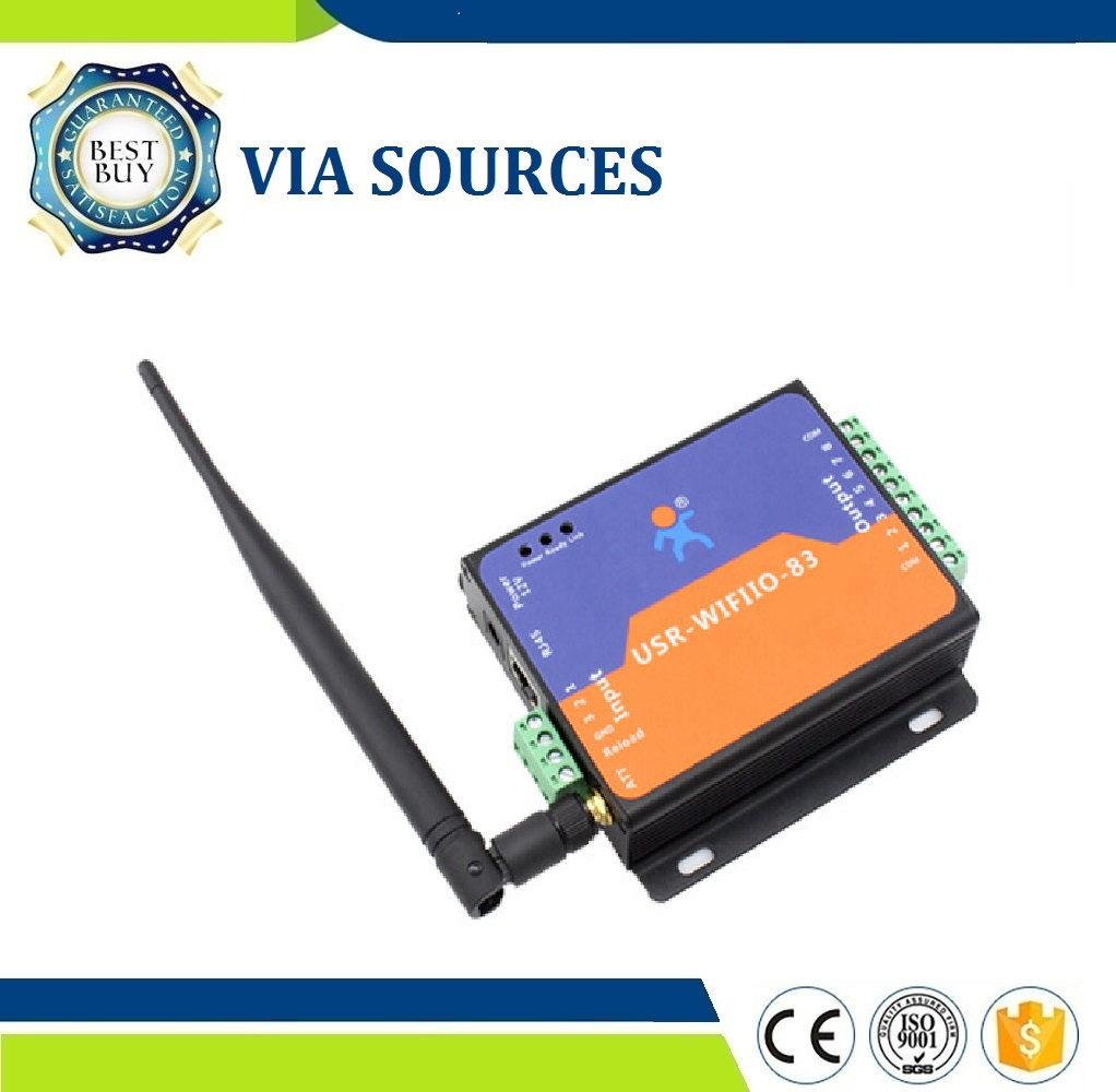 Low Cost USR-WIFIIO-83 WIFI Remote Control Relay DC12 Power Adapter Supply Promotion usr wifiio 83 free shipping remote control wifi module 8 channels digital switch relay free app supply