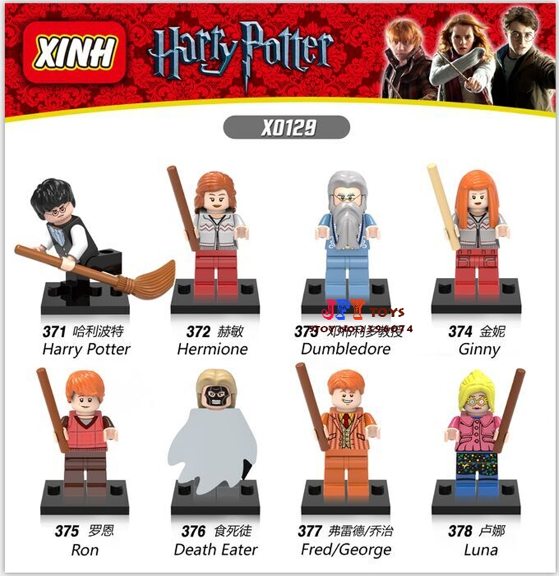 8pcs star wars super heroes marvel Harry Potter Friends Hermione Jean building blocks model bricks toys for children juguetes