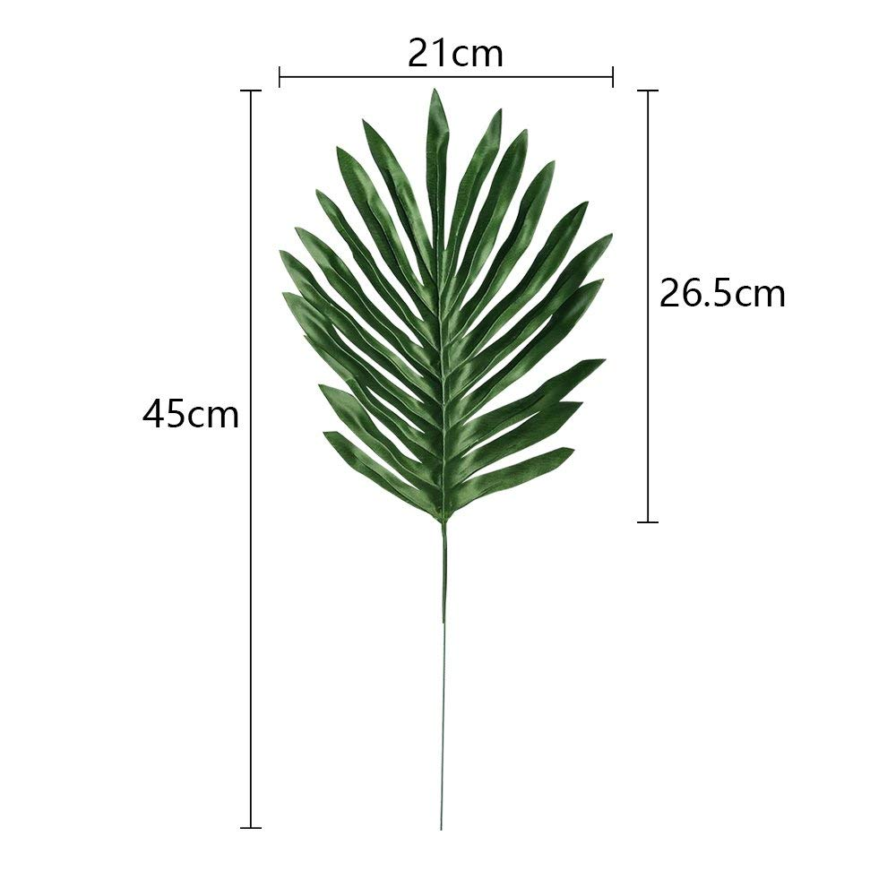 Home & Garden 24pcs/pack 45cm Artificial Leaves Fake Coconut Leaf Leaves Simulation Plant For Wedding Party Diy Supplies Home Garden Decor Artificial & Dried Flowers