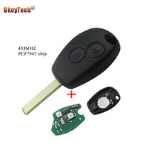 OkeyTech 2 Buttons Remote Control Key Cover Case For Renault Duster Modus Clio 3 Twingo DACIA