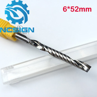 AAA High Quanlity 6 52mm One Flute End Mill Milling Cutter Spiral Bit CNC Router Tool