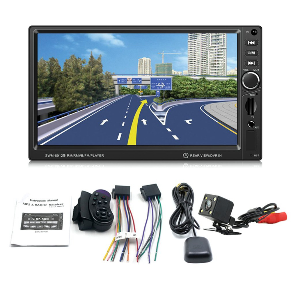 Foval 8012G 7 Inch 2 Din Car Audio MP5 Player Multimedia Support Bluetooth And GPS Navigation USB/SD/FM Aux Input