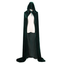 Vintage Halloween Death Large Code Velvet Cloak 8 Color Hooded Prince and Princess Clothing Suit