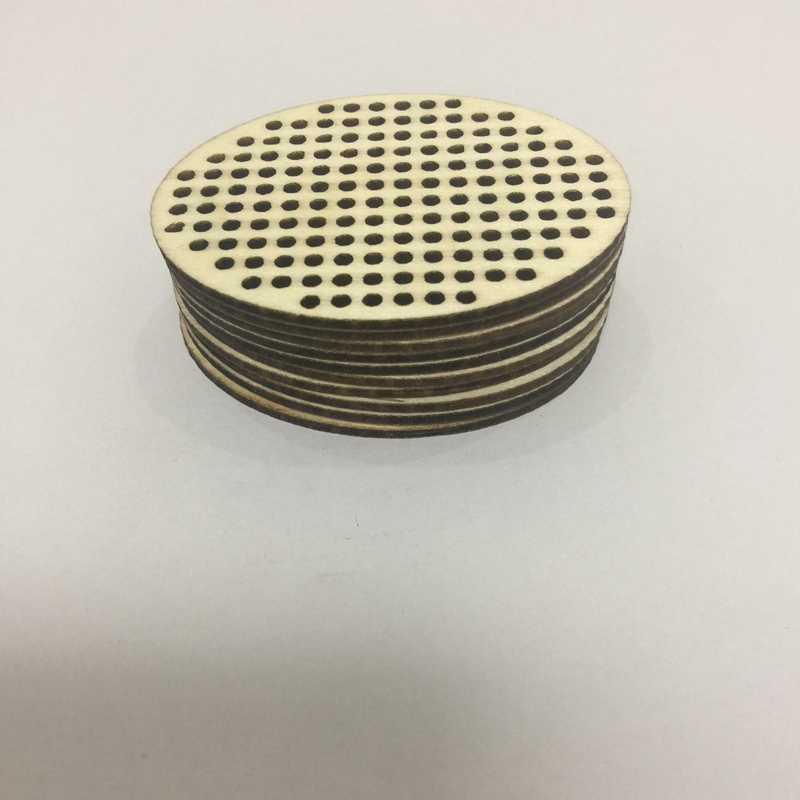 6*4.5cm do bordado oval do teste padrão do ponto da cruz do ovo da madeira compensada do corte do laser da espessura de 20 pces 2mm