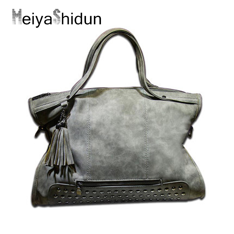 Casual Tote Women Handbags Women Messenger Bag Leather Top-handle Shoulder Bag Vintage Motorcycle Crossbody Bags Women Bag bolsa women cow leather handbags women messenger bags designer crossbody bag women tote shoulder bag top handle bags