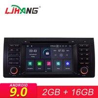 LJHANG 1 Din Android 9,0 Автомобильный мультимедийный плеер для BMW E39 X5 M5 E38 E53 Автомобильный DVD автомобильный GPS навигации USB WI FI головное устройство RDS