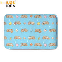 HUGSIDEA Carpets Tapetes Creative Cute Sloth Print Front Entrance Door Floor Mat Doormat Bape Carpet for Bath Kitchen Toilet(China)