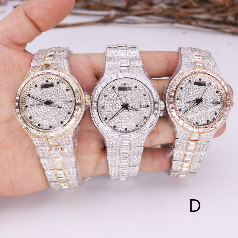 SALE!!! Discount Melissa Auto Date Crystal Rhinestones Women's Watch Men's Watch Japan Mov't Fashion Hours Girl's Gift Box