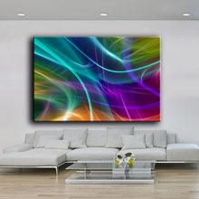 HDARTISAN Oil Painting Wall painting background abstract Feather IV Wall Art Picture For Living Room painting No Frame(China)