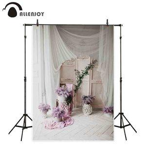 Image 2 - Allenjoy Photography backdrop wedding flower Vintage decorated wooden floor window background photocall photobooth photo shoot