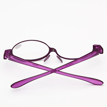 Hot Sell Magnifying Eye Makeup Flipup Eyeglasses Glasses Reading Glasses Readers One Clear Lens+1.5 +2.5 +2.75,+3.0 +3.25 YJ113