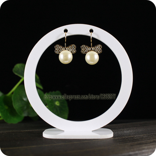 Fashion 10pcs X Round Earring Display Rack Acrylic Earrings Stand Jewelry Holder Hanger Showcase