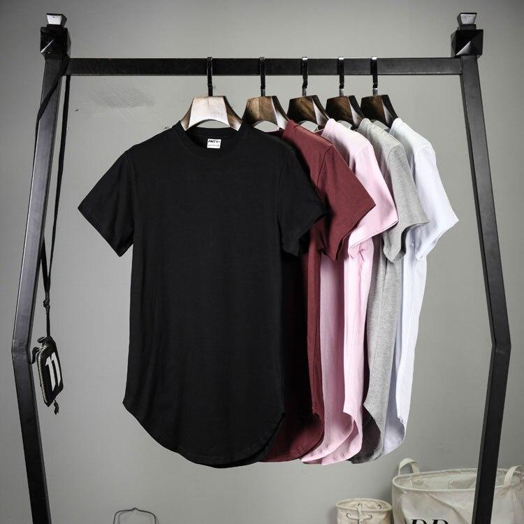 Fashion Men Extended   T     shirt   Longline Hip Hop Tee   shirts   Women justin bieber Swag Clothes Harajuku rock tshirt homm