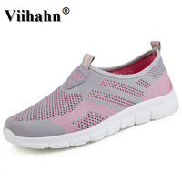 Viihahn 2017 New Women Casual Shoes Summer Autumn Lover Shoes Breathable Outdoor Slip On Shopping Flats