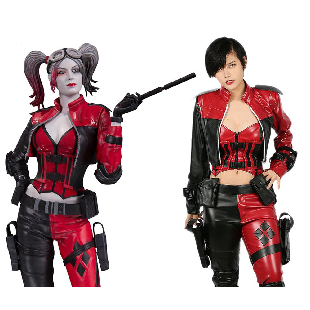 xcoser harley quinn costume injustice 2 cosplay suit sexy. Black Bedroom Furniture Sets. Home Design Ideas
