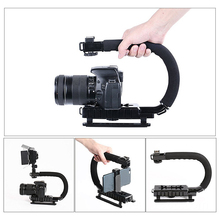 U-Grip Triple Shoe Mount Video Action Stabilizing Handle Grip Rig for iPhone 8 X Smartphone for Gopro Canon Sony DSLR Camera ulanzi u grip pro triple shoe mount video stabilizer handle video grip camera phone video rig kit for nikon canon iphone x 8 7
