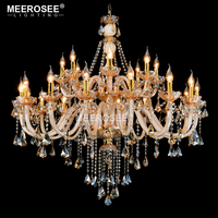 Luxury Crystal Chandelier Light Fixture Glass Chandelier Lighting Lustre Lamparas Hanging Dining room drop Lamp