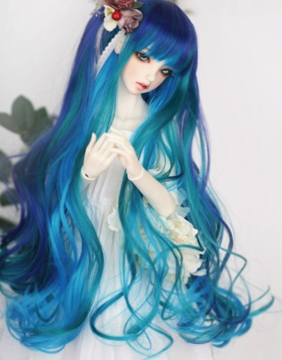 1/3 Bjd SD Doll Wig High Temperature Wire Beautiful Mix Colors Long Wavy BJD Super Dollfile For Doll Hair Wig 65cm cosplay wig lady long wavy hair full wigs party 3 colors