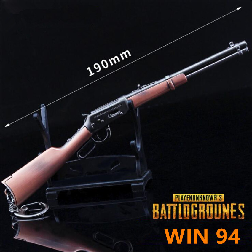 Game PUBG Playerunknowns Battlegrounds Cosplay Costumes Props Alloy WIN94 Weapon Arms Gun Model Key Chain Chicken Dinner