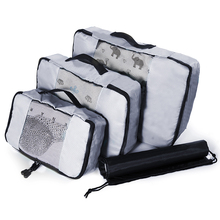 QIUYIN Unisex Clothing Sorting Organizer Bag 3 Pcs High Quality Packing Cubes Nylon Waterproof Travel Bags Mesh Luggage