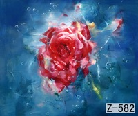 Tüketici Elektroniği'ten Arka Plan'de 10 * 10ft El Boyalı Muslin doğal çiçek fotoğraf stüdyosu zemin  düğün backdropZ582  fondali fotografici  Fotoğraf Arka Plan