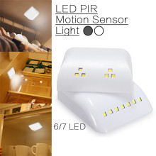 Motion Sensor Night Light PIR Motion Sensor LED Lights 6led/7led Night Lamp With Intelligent For Wardrobe Drawer Bedroom