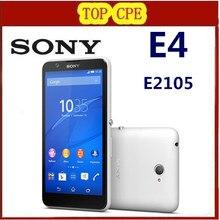 Unlocked Original Sony Xperia E4 / E2105 Android Smart Phone Quad Core 1.3 GHz 1GB + 8GB 5 inch WCDMA GSM Network free shipping