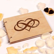 Сердце любовь Свадебная книга для гостей душ Бесконечность Свадьба Keepsake Свадьба Гостевая книга деревенский На Заказ Свадебный блокнот