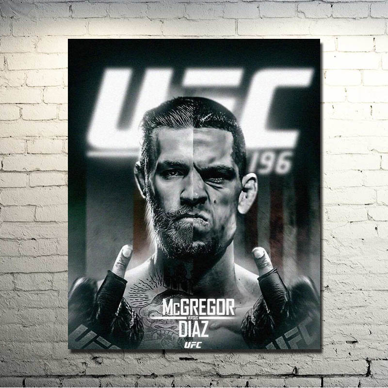 CONOR MCGREGOR V NATE DIAZ UFC 196 GIANT WALL ART PHOTO PICTURE PRINT POSTER
