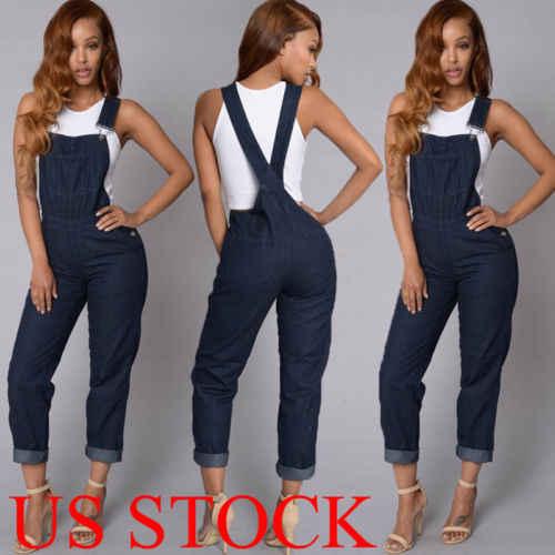 ONS Vrouwen Mode Denim Jeans BIB Broek Overalls Bandjes Jumpsuit Rompertjes Broek