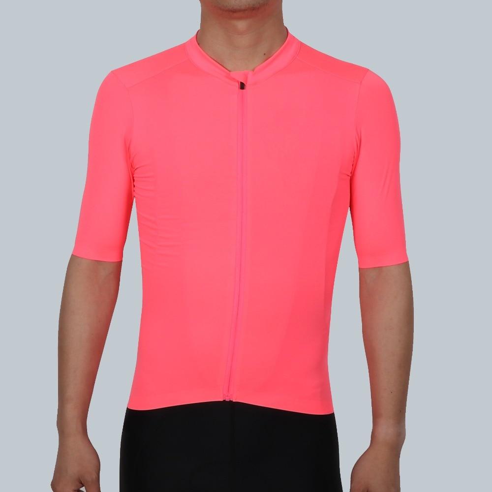 SPEXCEL 2018 NOVA Fluorescência Rosa PRO EQUIPE AERO 2 Ciclismo camisa de manga curta das mulheres Dos Homens Mais Recente tecnologia tecido de Melhor Qualidade
