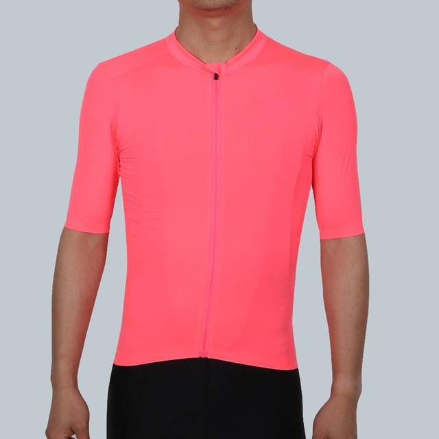 SPEXCEL 2018 NEW Fluorescence Pink PRO TEAM AERO 2 Cycling jersey short  sleeve Men women Newest technology fabric Best Quality 05a205b1d