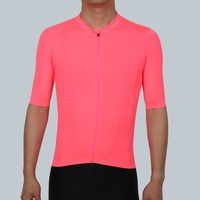 SPEXCEL 2018 NEW Fluorescence Pink PRO TEAM AERO 2 Cycling jersey short sleeve Men women Newest technology fabric Best Quality