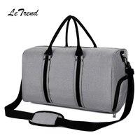 LeTrend New Rechargeable Handbag USB High Capacity Travel Duffle Leisure Men's Handbags Shoulder Bags Multifunction School Bag