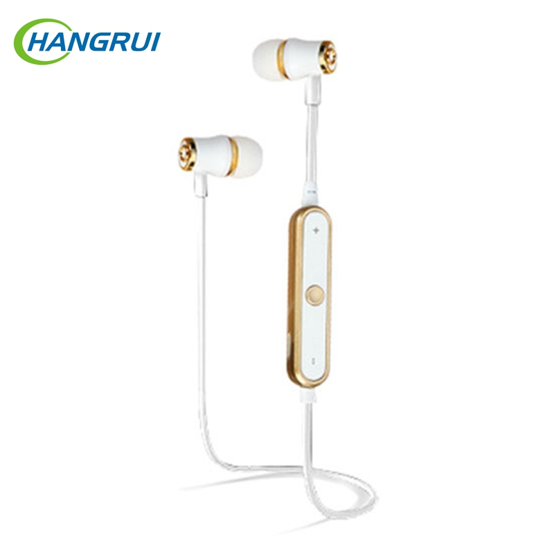 Hangrui bluetooth earphone for xiaomi Sport headset Bass Stereo In-ear earphones with microphones fone de ouvido bluetooth 4.1 awei stereo earphones headset wireless bluetooth earphone with microphone cuffia fone de ouvido for xiaomi iphone htc samsung