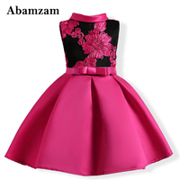 Gorgeous Flower Toddler Girls Evening Dresses Kids Summer Clothing For Children Princess Fashion Lovely Birthday Costume