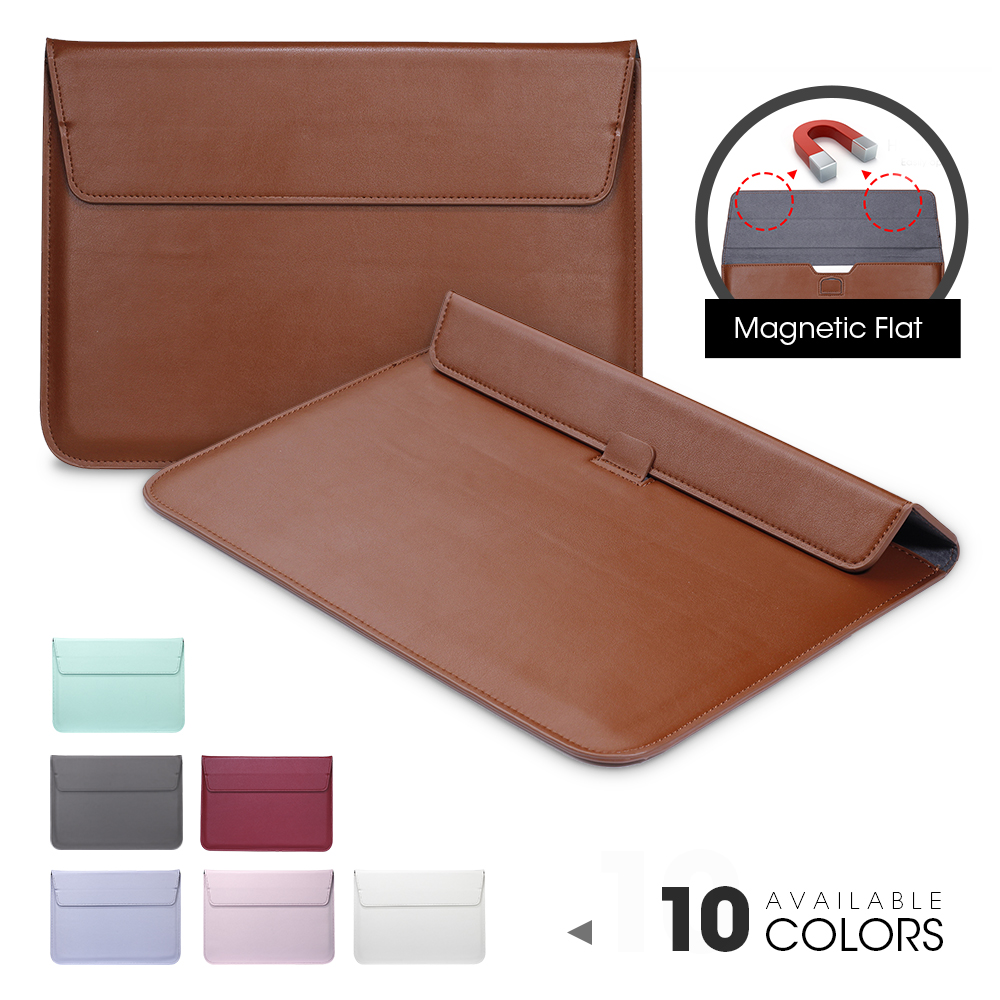 Leather Sleeve Protector Bag Case For Apple Macbook Air Pro Retina 11 12 13 15 Laptop