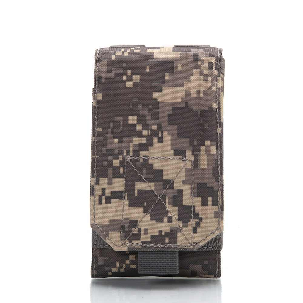 4.5-5.3 inches Outdoor Camping Wandelen Tactische Telefoon Bag Army Camo Camouflage Tas Haak Lus Riem Pouch Nylon Mobiele case
