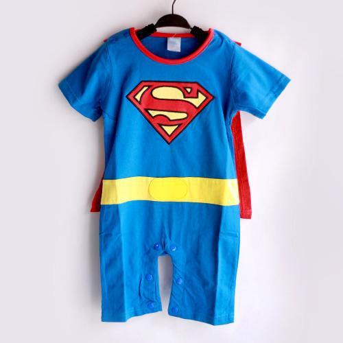 Superman Baby Toddler Grow Short Sleeved Bodysuit Onesie All Size