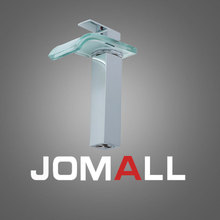 Bathroom Basin Faucet chromeBrushed Brass & Glass Mixer Tap Waterfall Faucet LED Faucet  цены