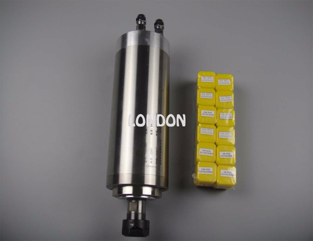 цена  CNC spindle kit ER20 2.2KW water cooling spindle+12 pieces ER20 collet  онлайн в 2017 году