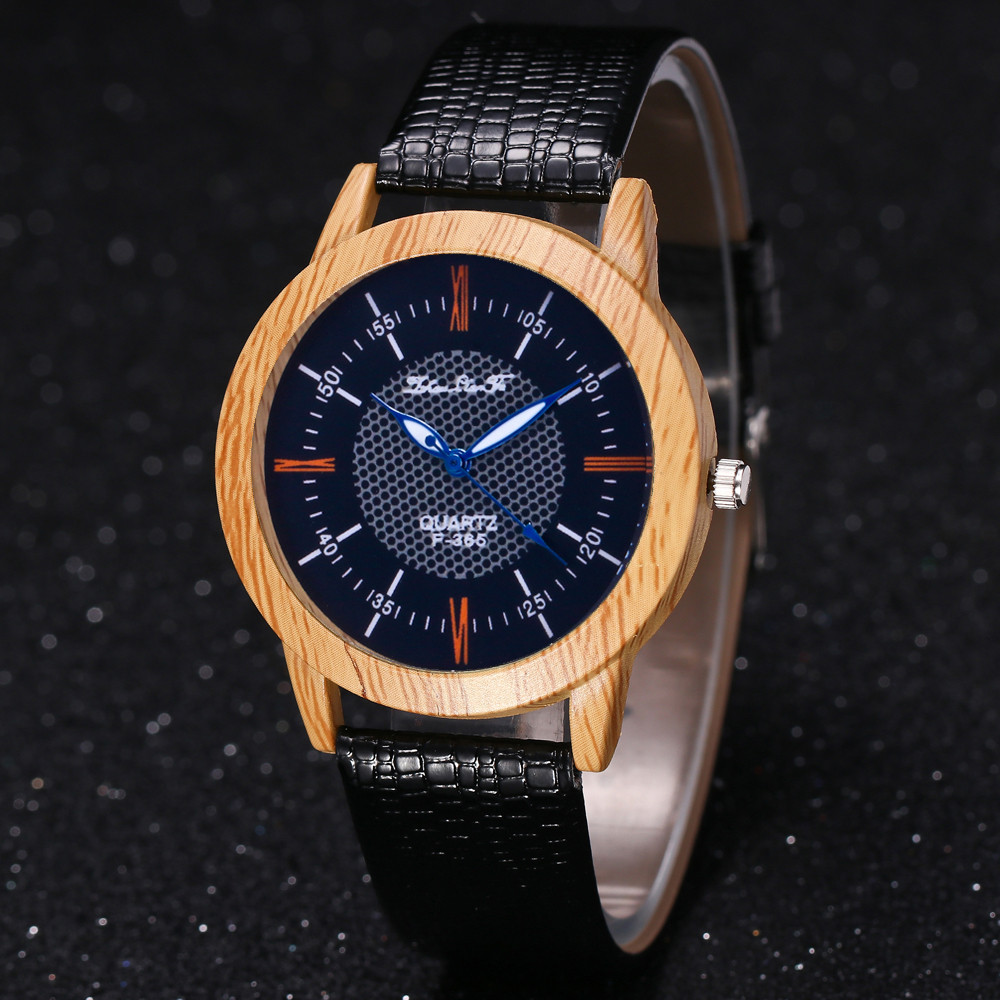 2018 Retro Wooden Watch Minimalist Bamboo Nature Leather Band Simple Creative Mens Wood Quartz Wristwatches 8.22